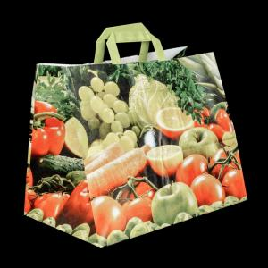 Kraft Paper Bag Motif Fruits+Veggies