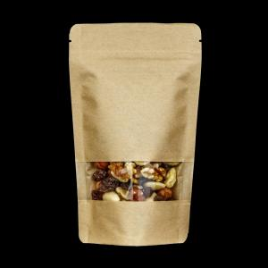 Kraft Paper Doypack with Window (102µ)