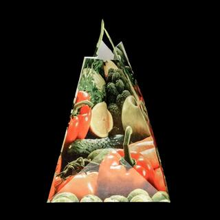 Kraft Paper Bag with Motif Fruits and Veggies