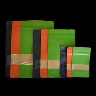 Colour Kraft Paper Doypack with Window