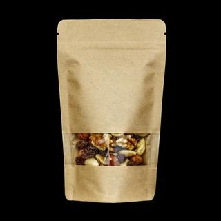 Kraft Paper Doypack with Window 102µ