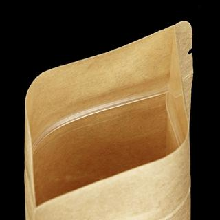 Kraft Paper Doypack with Window 110x185+65mm