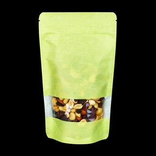 Rice Paper Doypack With Window 130x225+70mm Green